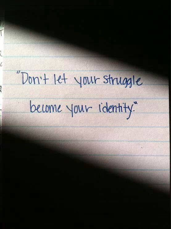 Don't Let Your Struggle….
