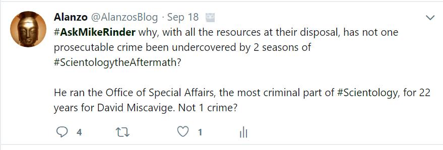 #AskMikeRinder why no crimes