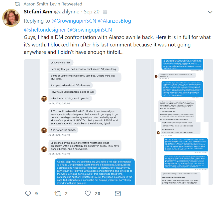 Scientology and the Aftermath fan
