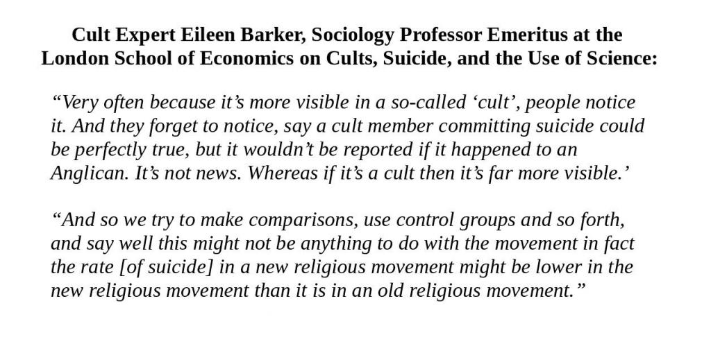 Dr. Eileen Barker