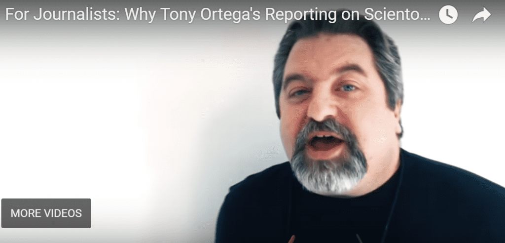 For Journalists: Is Tony Ortega Biased in His Reporting on Scientology?