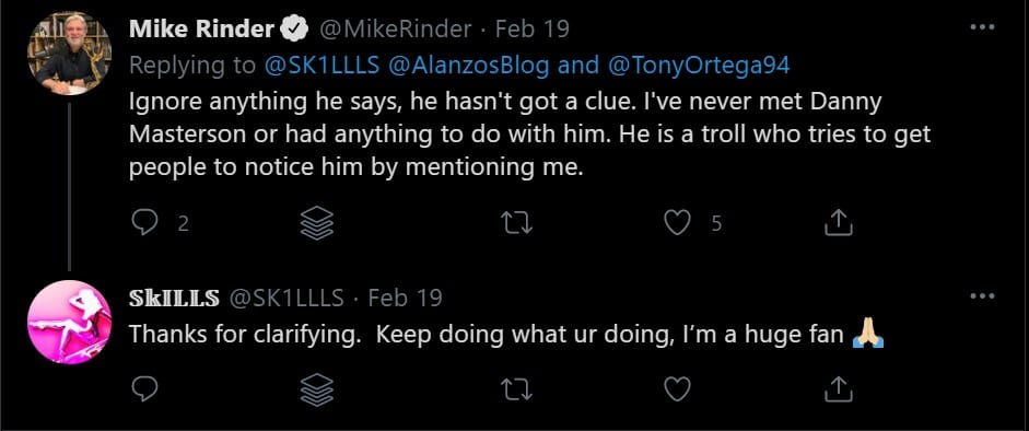 Mike Rinder Answers AlanzosBlog on Twitter