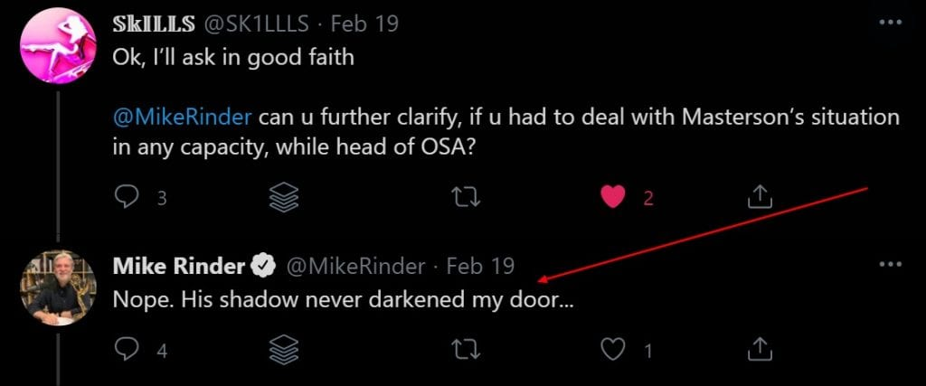 Mike Rinder Deflects and dostracts off the question asked him
