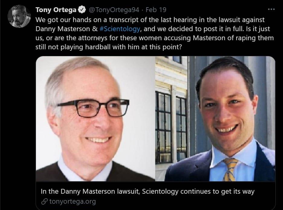 Tony Ortega Tweet Masterson Trial