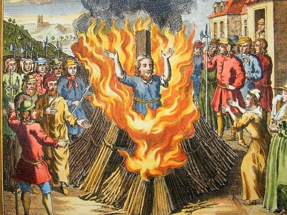 burning a heretic