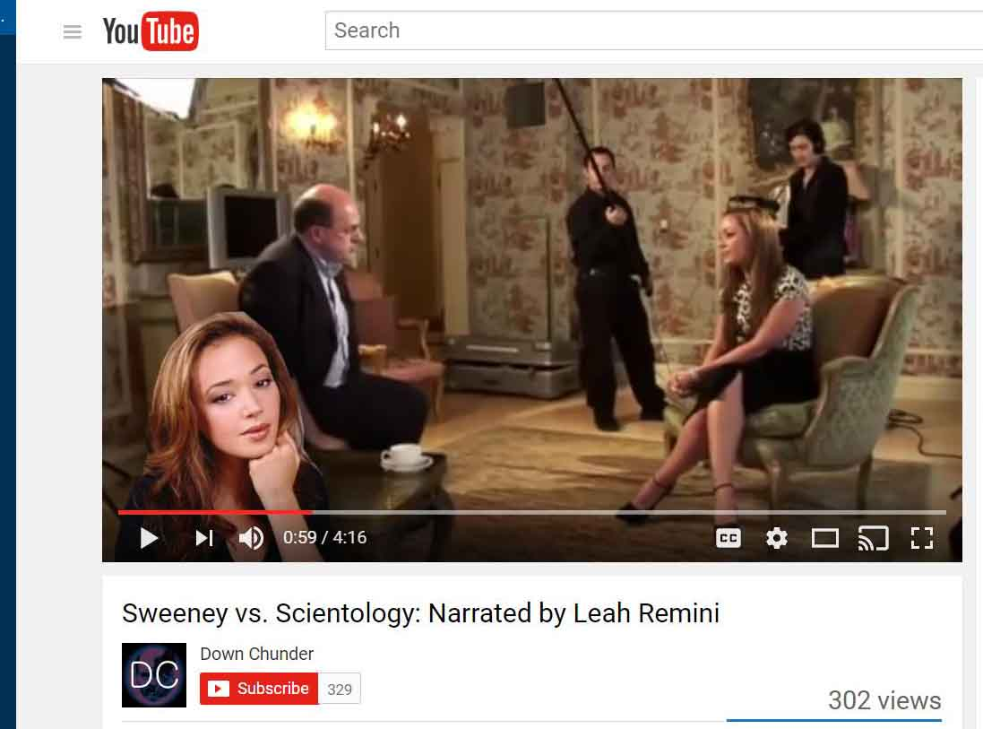 "Leah Remini Narrates ""Sweeney vs. Scientology"""